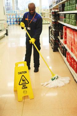 Sainbury's Cleaning Floor