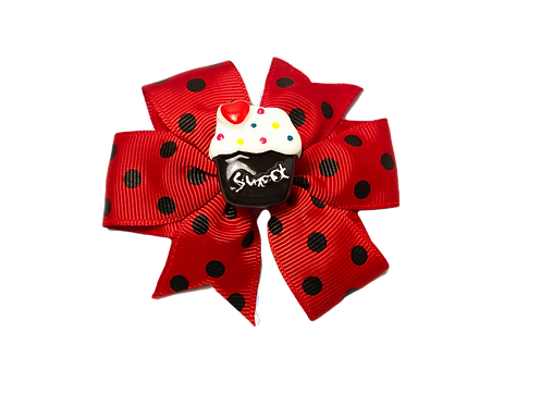 Cupcake Bow-Red