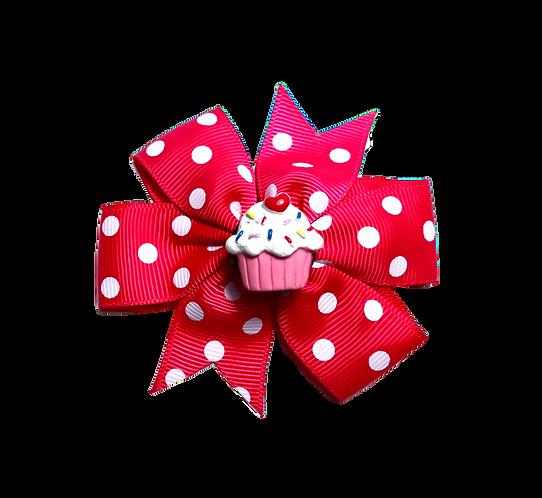 Cupcake Bow-Hot Pink