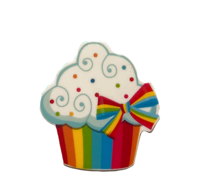 Rainbow Cupcake Button Cover