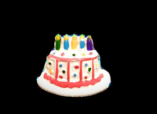 Vanilla Birthday Cake Button Cover