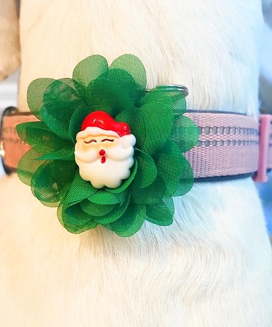 Interchangeable Santa & Reindeer Flower Set - for dog collar