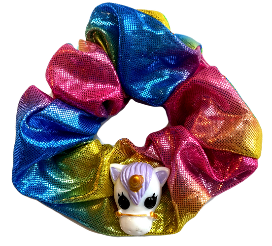 Rainbow Unicorn Scrunchie-Iridescent