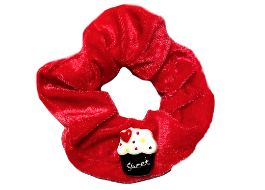 Cupcake Scrunchie-Red