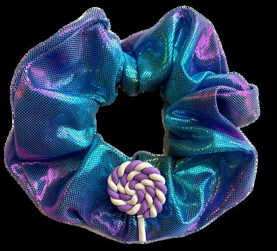 Purple Lolli Pop Scrunchie-Iridescent