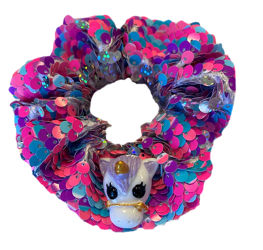 Sequin Unicorn Scrunchie