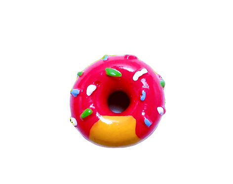 Pink Donut Button Cover