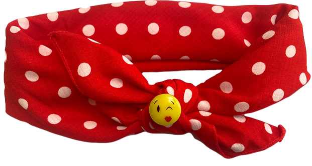 Kissy Face Tie Knot Headband