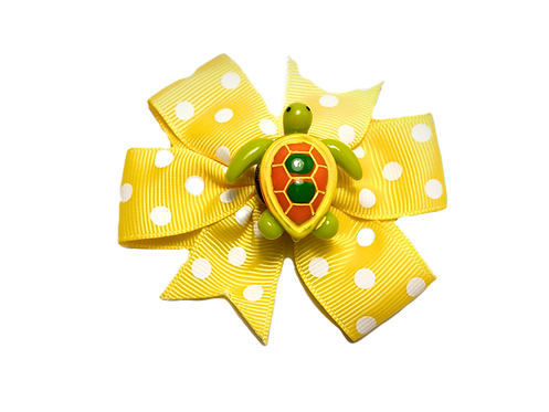 Turtle Bow-Yellow