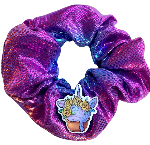 Unicorn Cupcake Scrunchie-Iridescent