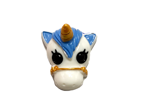 Blue Unicorn Button Cover
