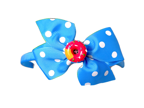 Strawberry Donut Headband-Blue