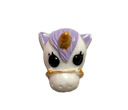 Purple Unicorn Button Cover