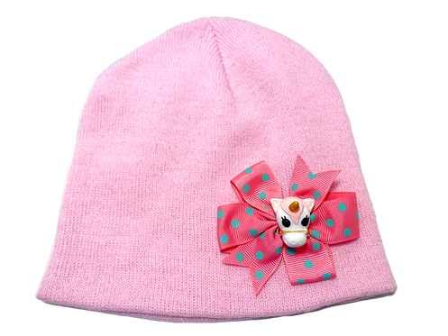 Unicorn Winter Hat-Pink