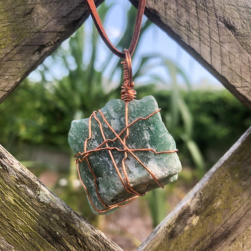 Wire Wrapped Aventurine Necklace