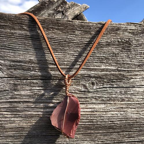 Wire Wrapped Australian Jasper Necklace