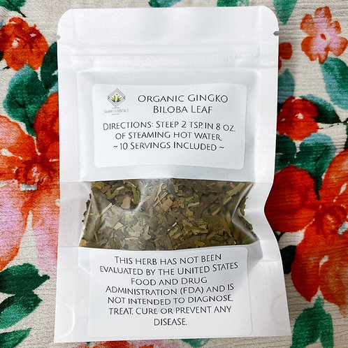 Organic Gingko Biloba Leaf