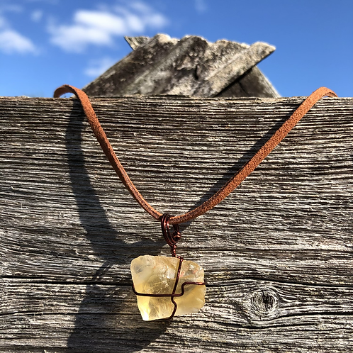 Wire Wrapped Citrine Necklace