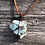 Thumbnail: Wire Wrapped Amazonite Necklace