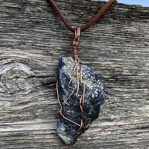 Wire Wrapped Sodalite Necklace