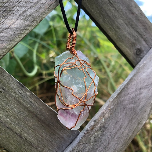 Wire Wrapped Flourite Necklace