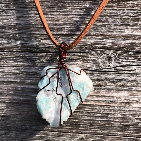 Wire Wrapped Amazonite Necklace