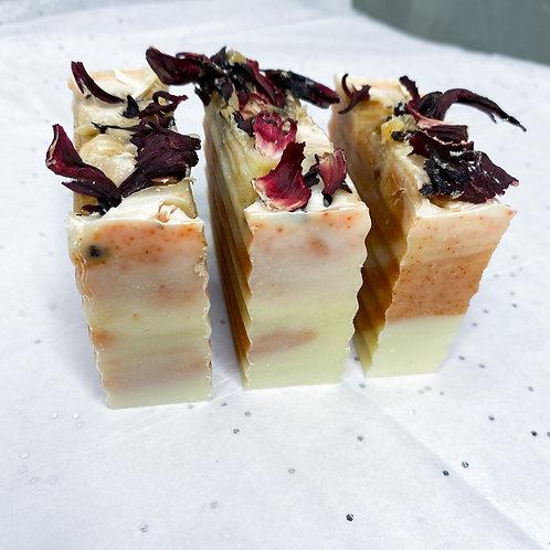 Tangerine Hibiscus Soap