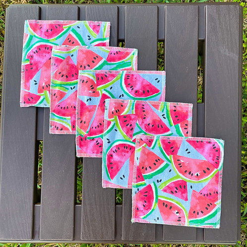 Seeded Watermelon Reusable Wipes