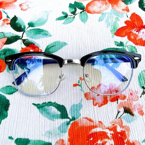 Silver Framed Blue Light Blocking Glasses