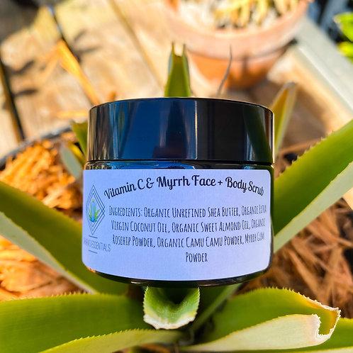 Vitamin C & Myrrh Face + Body Scrub