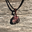 Thumbnail: Wire Wrapped Polished Rhodonite Necklace