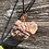 Thumbnail: Wire Wrapped Raw Lepidolite Necklace