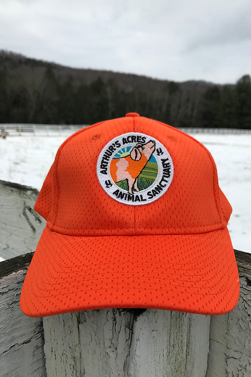 Arthurs acres orange flex fit hat L/XL