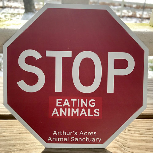 """""""STOP EATING ANIMALS"""" Large Magnet"""