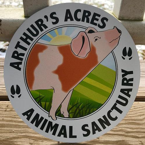 'Arthurs Acres Animal Sanctuary'  Magnet