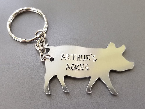 Arthur's Acres Stamped Keychain