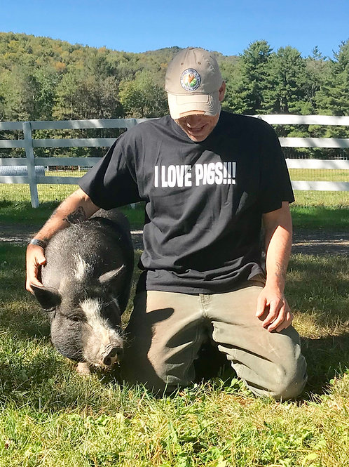 "copy of Arthur's Acres ""I Love Pigs"" Logo shirt"