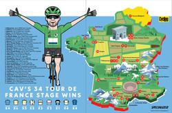 Tour de France map July 2021