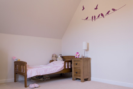 A photograph of a child`s bedroom.