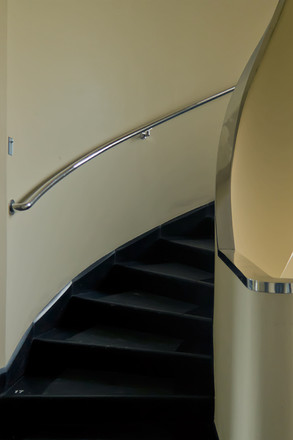 A photograph of spiral stairs.