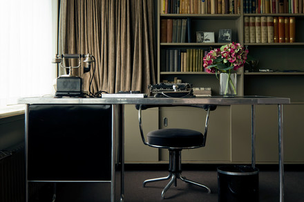 A photograph of a home office.