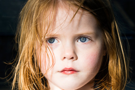 A portrait of a young girl.