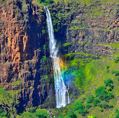 Rainbow in the waterfall
