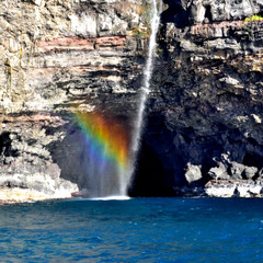 Napali Coast Rainbows & Waterfalls