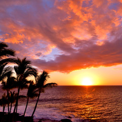 Sun setting Kauai