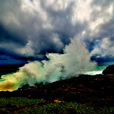 Waves Crashing in the Storm