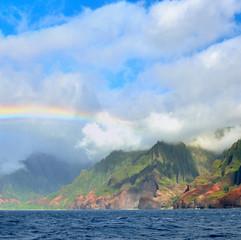 Rainbow over Napali Coast