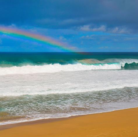 Beach Ocean Rainbow
