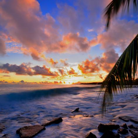 the start of ths sunset