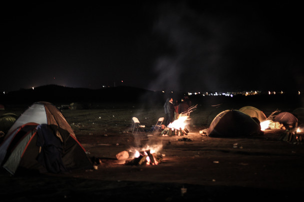 Idomeni border camp. December 2015